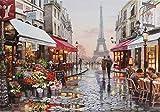 Vicloon Puzzles para Adultos, Puzzle 1000 Piezas, Puzzle París, Obra de Arte de Juego de Adulto Rompecabezas para Navidad, Rompecabezas de Piso Juego de Rompecabezas y Juego Familiar (Torre Eiffel)
