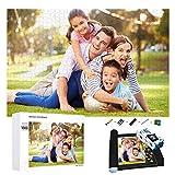puzzle personalizado con foto 1000 500 300 120 Piezas,Rompecabezas de Madera Personalizable con tu Propia Imagen,Regalo para Madres/Parejas/Novios - Diseño Desde Cualquier Imagen Puzzles.