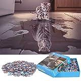 Puzzle de 1000 Piezas Para Adultos,「Gato Con Tigre En Corazón」,Materiales Reciclables de Primera Calidad y Rompecabezas de Impresión de Alta Definición,Juego,Formación de Equipos,Regalos para amigos.