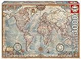 Educa - El Mundo, Mapa Político Puzle, 4 000 Piezas, Multicolor (14827)