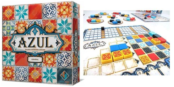Juego de mesa Azul caja tablero fichas cartas