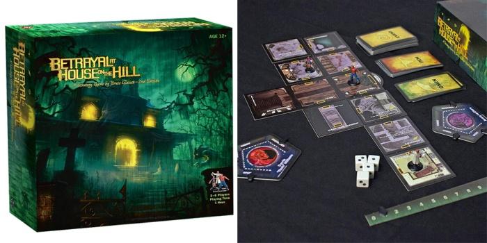 Juego de mesa Betrayal At House On The Hill caja tablero fichas cartas
