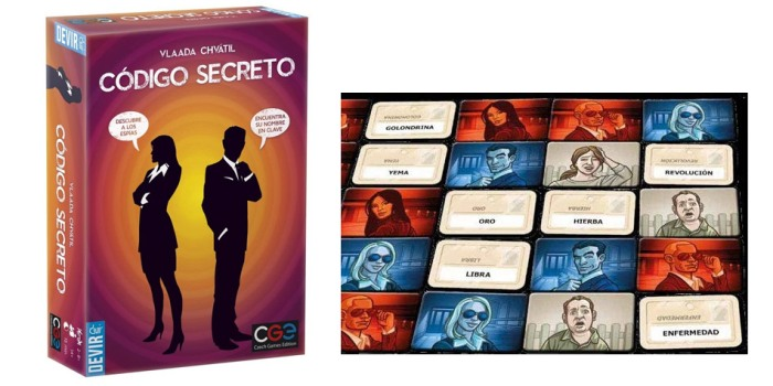 Juego de mesa Codigo Secreto caja tablero fichas cartas