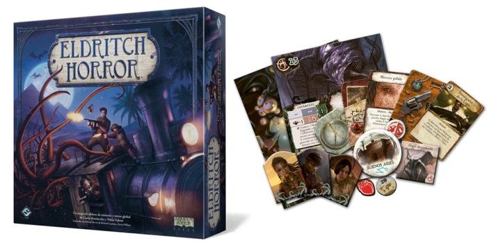 Juego de mesa Eldritch Horror caja tablero fichas cartas