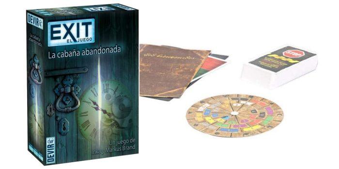 Juego de mesa Exit La Cabana Abandonada caja tablero fichas cartas