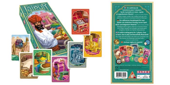 Juego de mesa Jaipur caja tablero fichas cartas