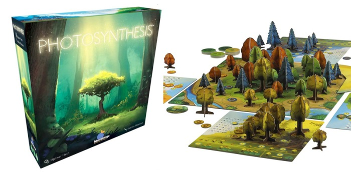 Juego de mesa Photosynthesis caja tablero fichas cartas