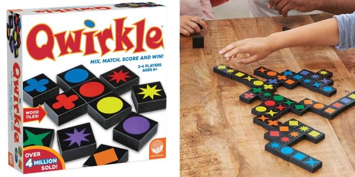 Juego de mesa Qwirkle caja tablero fichas cartas