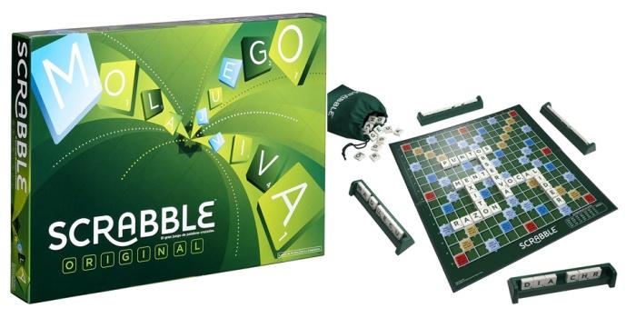 Juego de mesa Scrabble caja tablero fichas cartas