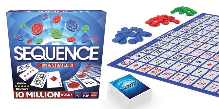 Juego de mesa Sequence caja tablero fichas cartas
