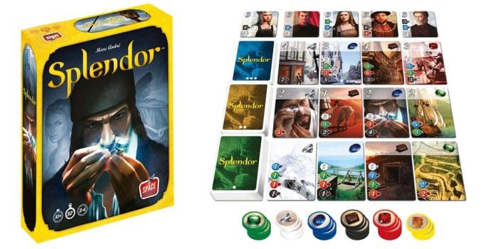 Juego de mesa Splendor caja tablero fichas cartas