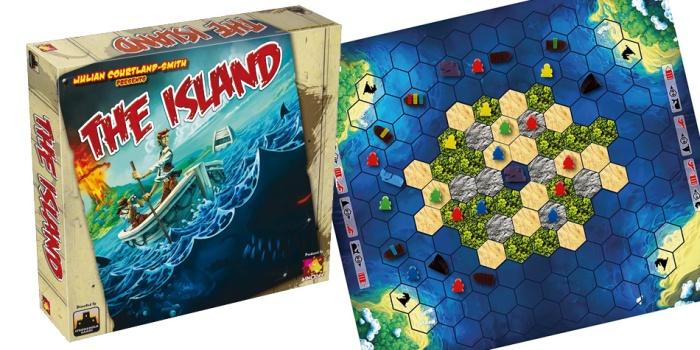 Juego de mesa The Island caja tablero fichas cartas