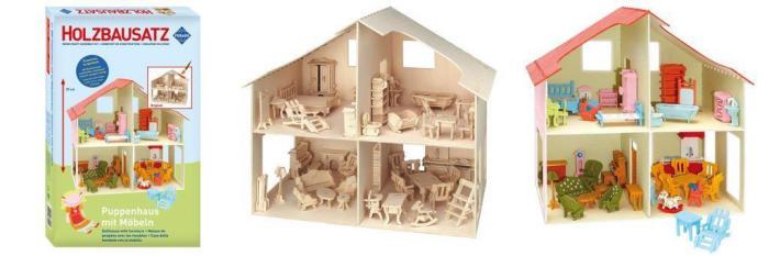 Pebaro 880 Una casa de madera con muebles para construir y pintar.jpg